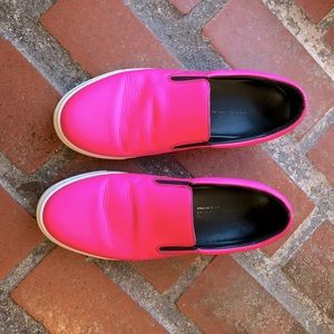 DSquared Neon Leather Slides